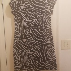 Zebra Print Women's Dress